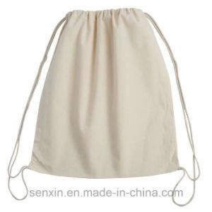 Zipper Pocket Drawstring Bag, Canvas Bag pictures & photos