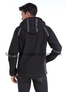 2016 Men′s Softshell Jacket Breathable Hooded Workwear pictures & photos