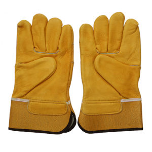 Protective Leather Cut Resistant Driver Work Gloves pictures & photos