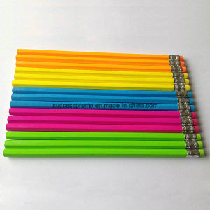 Hb Pencil with Color Body with Eraser pictures & photos