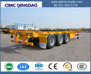 Cimc 40FT 3 Axles Skeleton Container Chassis/Container Semi Trailer pictures & photos