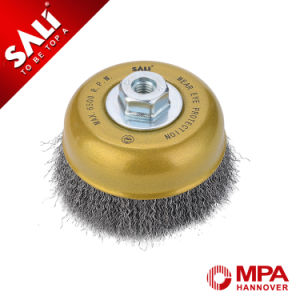 """4"""" Crimped Wire Cup Brush for Stain Rust Paint Cleaning pictures & photos"""