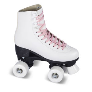 Soft Boot Quad Roller Skate for Adults (QS-44-1) pictures & photos
