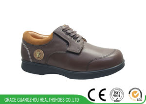Orthopedic Shoes Casual Shoes Leather Diabetic Foot Prevention Comfortable Shoes pictures & photos