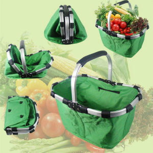 Outdoor Camping Folding Shopping Basket with Cover and Aluminium Pipe pictures & photos
