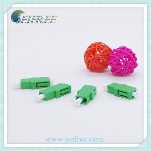 Simplex LC Optical Adapter, Plastic Green Housing LC/APC Fiber Optic Adaptor pictures & photos