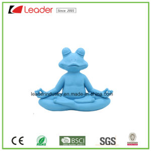 Hand Painted Resin Yoga Frog with Meditation for Home Decoration pictures & photos