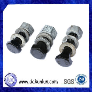 Factory Customized Carbon Steel Black Stud/Bolt and Nut pictures & photos