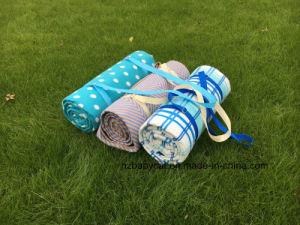 Big Waterproof Rug Indoor Outdoor Fleece Picnic Blanket with Handle