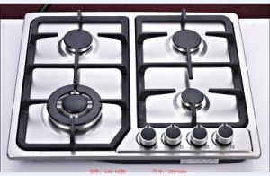Sabaf Four Burner Square Stainless Steel Gas Hob pictures & photos