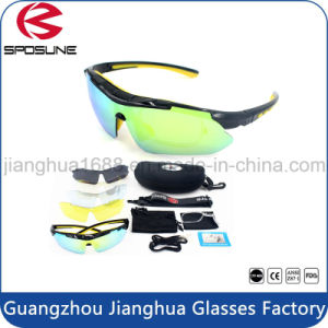 Myopia Frame Insert Ski Goggle 5 Spare Unbreakable Lenses Cycling Hikking Sunglasses High Prescription Polarised Anti UV400 Glasses pictures & photos