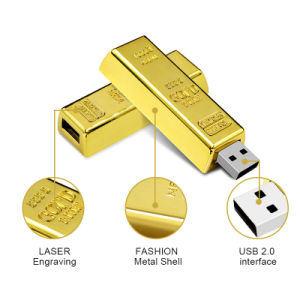 High Simulation Gold Bar Metal USB Flash Pen Drive pictures & photos