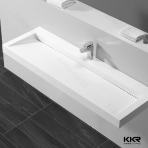 Acrylic Solid Surface Sink Bathroom Wall Hung Basin pictures & photos