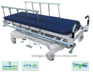 Sjm001 Luxurious Hydraulic Rise-and-Fall Stretcher Cart with Weight Readings