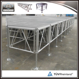 Selling Aluminum Outdoor Wooden Stage Portable Design pictures & photos