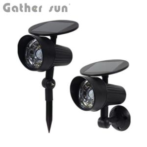 Solar Security Light Outdoor PIR Senson Spotlight ABS Black Lawn/Wall LED Light for Garden