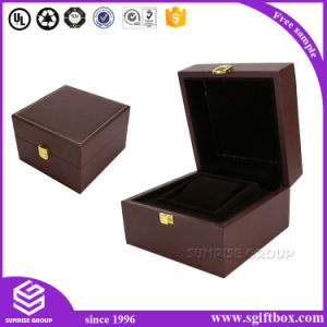 High-End Custom Handmade Leather Jewelry Gift Box Supplier pictures & photos