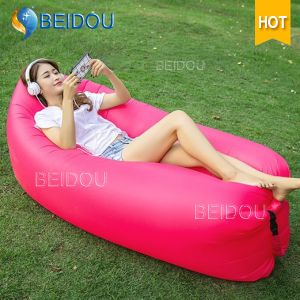 Inflatable Hammock Sleeping Beach Camping Bed Inflatable Air Sofa Bed