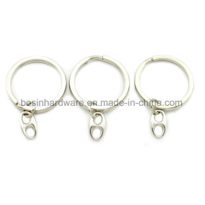 Metal Flat Split Key Ring with Small Attachment pictures & photos