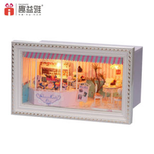 Assembling Wooden Kids Toy Mini Dollhouse pictures & photos