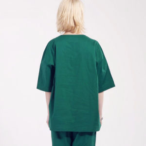 100% Cotton V-Neck Style Medical Uniform Scrubs pictures & photos