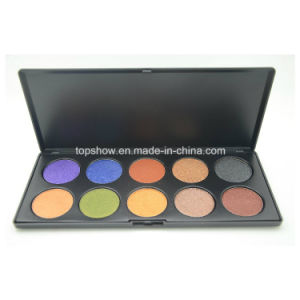 Print Logo on Available Professional Cosmetic Makeup Palette Shimmer 10 Color Eyeshadow Pn-G-10