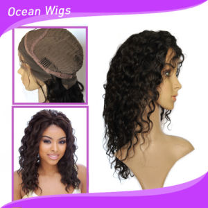 100% Human Hair Natural Color Full Lace Wig pictures & photos