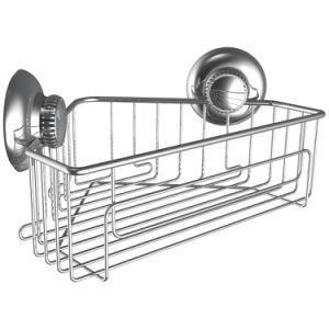 Rust-Free Suction Corner Bathroom Shelf