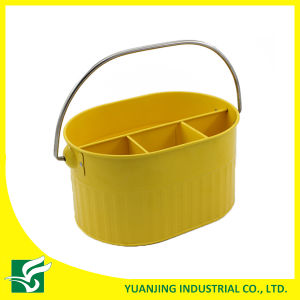 Yellow Color Metal Storage Basket