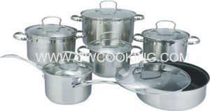 12PCS Cookware Set with Glass Lid and Wire Handle pictures & photos