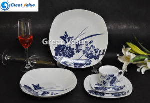 20PCS Wholesale Square Porcelain Set Restaturant pictures & photos