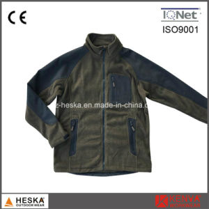 Anoraks Coarse Needle Mens Knitted Fleece Jacket pictures & photos