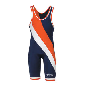 Custom Low Price Polyester Sublimation Wrestling Singlets pictures & photos