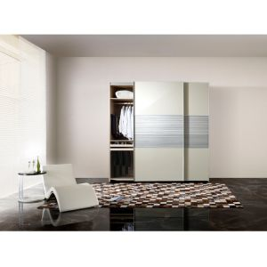 Modern Design 3 Sliding Doors Melamine Wardrobe for Home Furniture pictures & photos