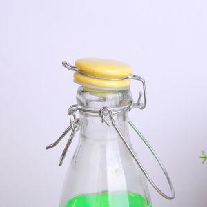 Milk Beverage Swing Top Clip Cap Glass Water Bottles for Juice pictures & photos