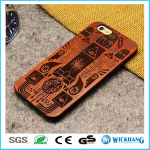 Rosewood Natural Carved Wood Hard Case for iPhone 8 pictures & photos