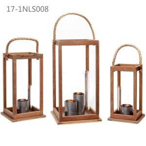 Oblong Antique Unique with Handle of Wooden Lanterns pictures & photos