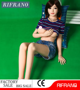 158cm Metal Skeleton Sex Doll Sexy Green Eyes Silicone Doll pictures & photos