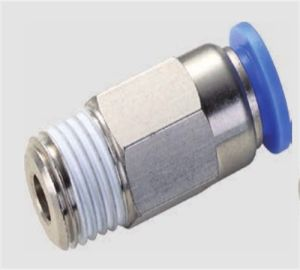 Spc China Metal Pneumatic Stop Fittings with Plastic Sleeve pictures & photos