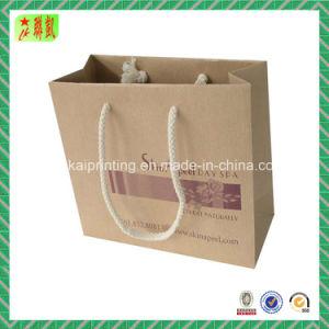 Printed Brown Kraft Paper Handbags pictures & photos
