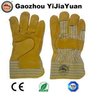 Cow Grain Leather Industrial Work Glove pictures & photos