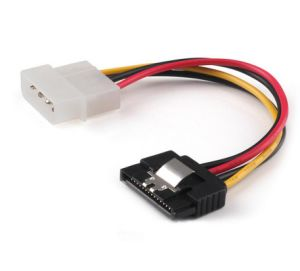 SATA Power Cable SATA 15pin Male to Molex 4 Pin Power Cable with Latch 20cm pictures & photos