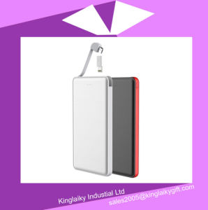 5000mAh Quick Charge 2.0 Dual USB Port Li-Polymer Power Bank pictures & photos