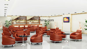 Metal Base Swivel Bar Sofa Chairs Hotel Lobby Furniture (UL-LS001) pictures & photos