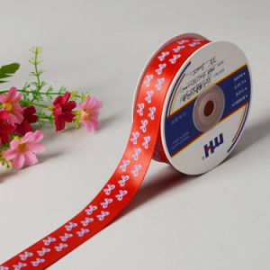 Printed Polyester Satin Ribbon Single Face pictures & photos