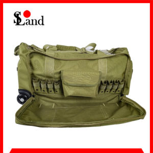 Green Cordura Fabric Military Equipment Wheeled Bag pictures & photos