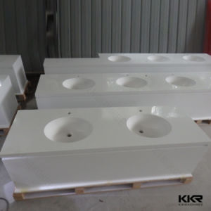 Solid Surface Customzied Design Resin Stone Bathroom Vanity Top pictures & photos