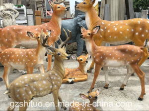 The Sculpture Is Made by a Sculpture of The Sculpture of The Sculpture of The Sculpture of The Deer pictures & photos