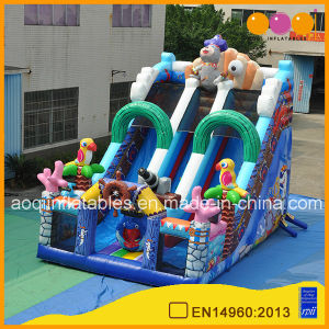 Double Lane Pirate Inflatable Climb Slide PVC Material Kids Slide (AQ01801) pictures & photos