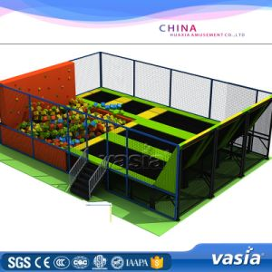 Children Jumping Bed Trampoline Park Amusement Equipment pictures & photos